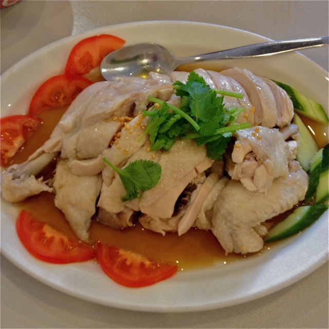 White chicken, chicken rice