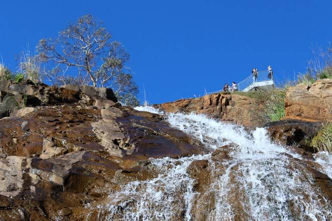 winter waterfall Lesmurdie