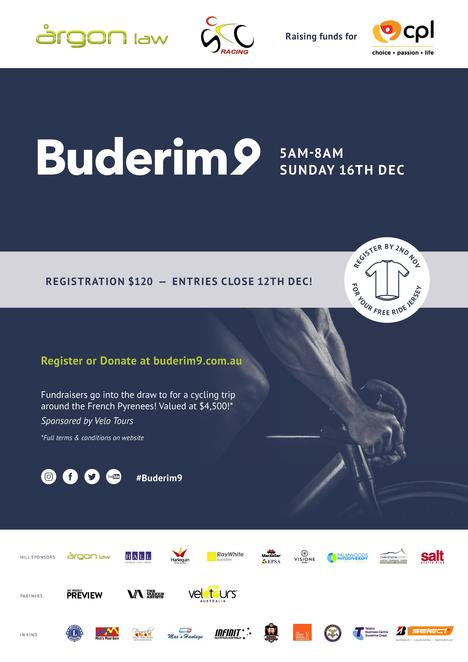 Buderim 9 Challenge Ride 2018, Wanderers Football Club, nine hills, 76kms, three hours, event map, fundraiser, local cerebral palsy organisation, CPL - Choice, Passion, Life, trophy for highest fund raiser, go in draw to win cycling trip around French Pyrenees, only $120, individuals, teams, sponsor a rider, Sunshine Coast Cycling Club, Argon Law, Cerebral Palsy League