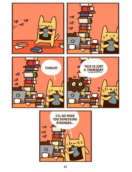 Cat's Cafe, comics, comics with cats, books about cats, web comic