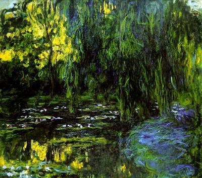Claude Monet, Waterlily Pond and Weeping Willow, 1916