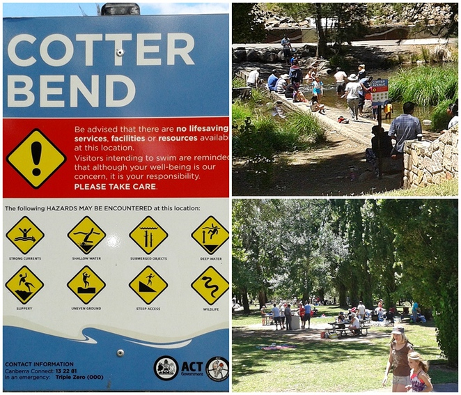 cotter reserve, cotter avenue, murrumbidgee river, river swimming, ACT, canberra, casurina sands,