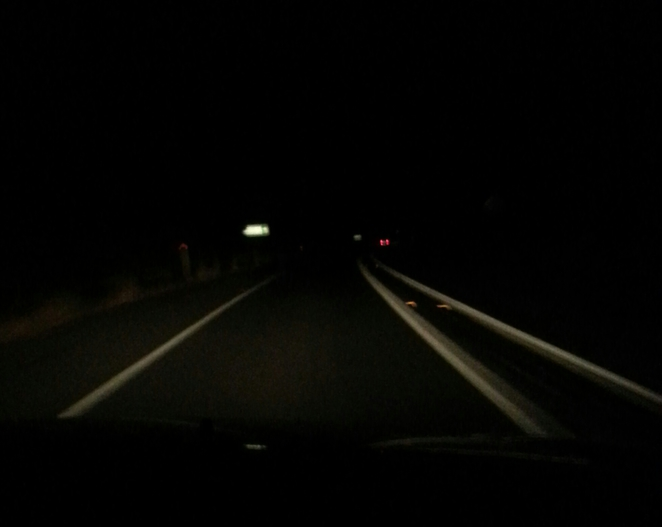 Driving, Bruce Highway, Gympie, Nightime
