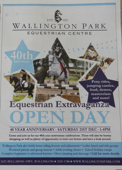 Wallington Park Equestrian Extravaganza Open Day
