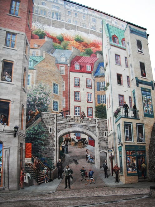 Fresque des Quebecois mural, Old Quebec