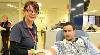 Image appears courtesy of the Australian Red Cross Blood Service.