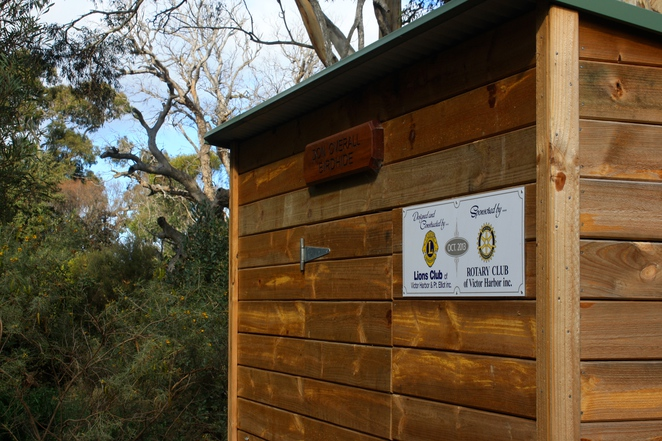 A bird hide for viewing of the native birds.
