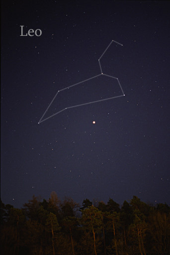 Photo of the constellation Leo courtesy of Til Credner at Wikimedia