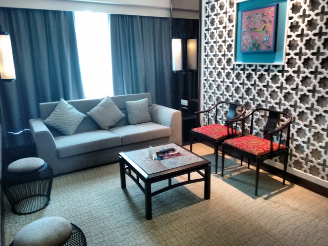 living area deluxe suite estadia by hatten melaka