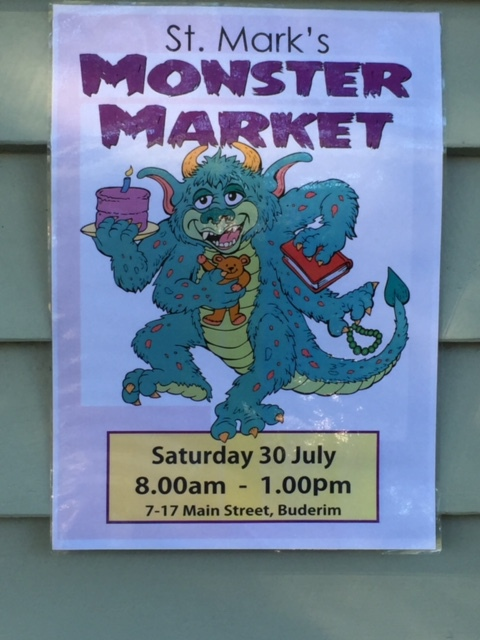 Monster Market, family fun, jumping castle, bric-a-brac, plants, jams, pre-loved clothes, sausage sizzle, live entertainment