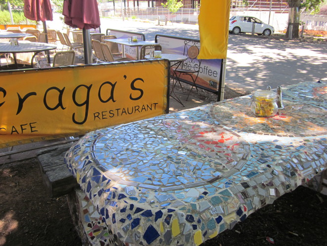 mosaic table, Fragas,