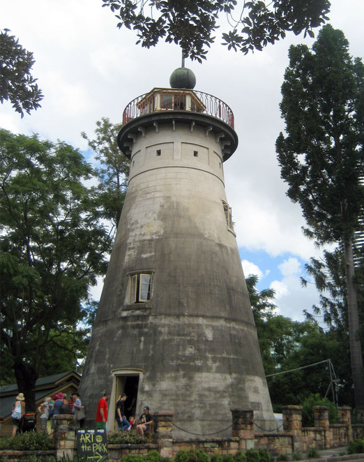 The old windmill in Wickham Park is Brisbane's oldest building