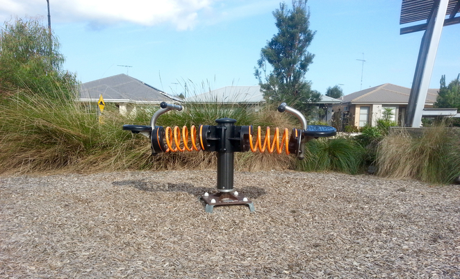 Percy Cherry Park, Curlewis, Creekside Drive, Bellarine, Park, Seesaw, Playground equipment,