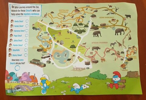 perth zoo smurfs map