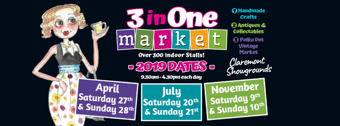 polka dot vintage market 2019, 3in1 market, treasured craft creations, claremont showgrounds, market stalls, stall holders, shopping vintage, mulberry tree vintage, premium antiques, vintage, retro, craft market, cafes, door prize, vintage lovers, community event, fun things to do, family friendly