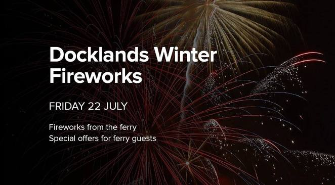 Port Phillip Ferries Docklands Winter Fireworks