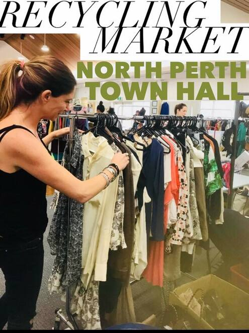 recycling day 2019, north perth recycling market 2019, community event, fun things to do, north perth town hall, environmental sustainability, fashion recycling market, footwear and clothing, accessories for women men and children, shop local, shopping