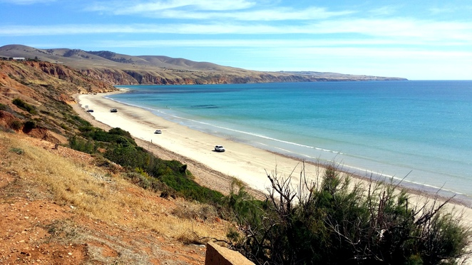 sellicks beach, fleurieu peninsula, south australia, beach, summer, ocean