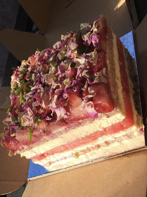 Strawberry and Watermelon Cake at Black Star Pastry