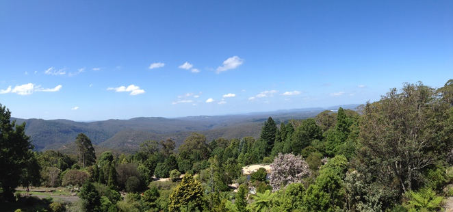 Panoramic view at the Blue Mountain Botanic Garden, Mount Tomah
