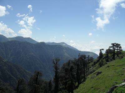 View from the top, triund, mcleod ganj, dharamsala, trek