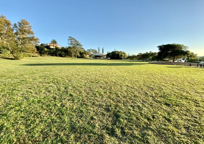 The south-east lawn area of Wellington Point Recreation Reserve