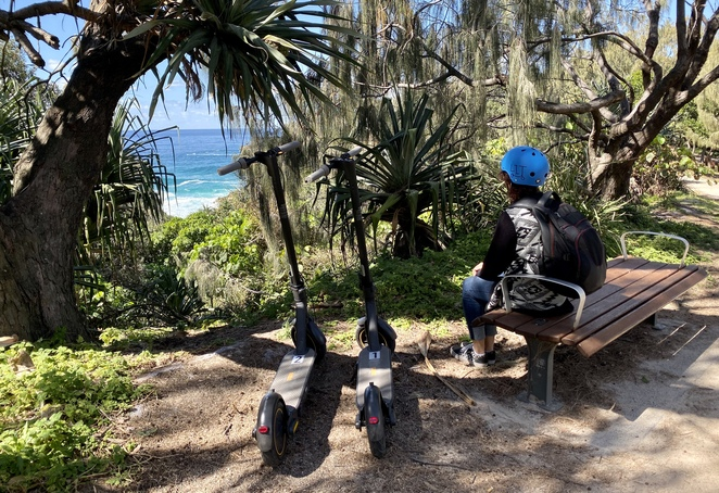 Yura Banji's scooters are a low impact, eco-friendly way to explore the island