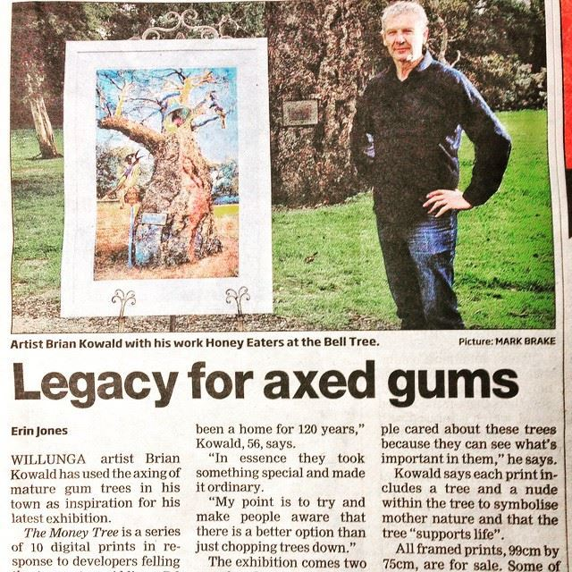 Brian Kowald featured in an article in the Southern Times Messenger on his exhibition The Money Tree