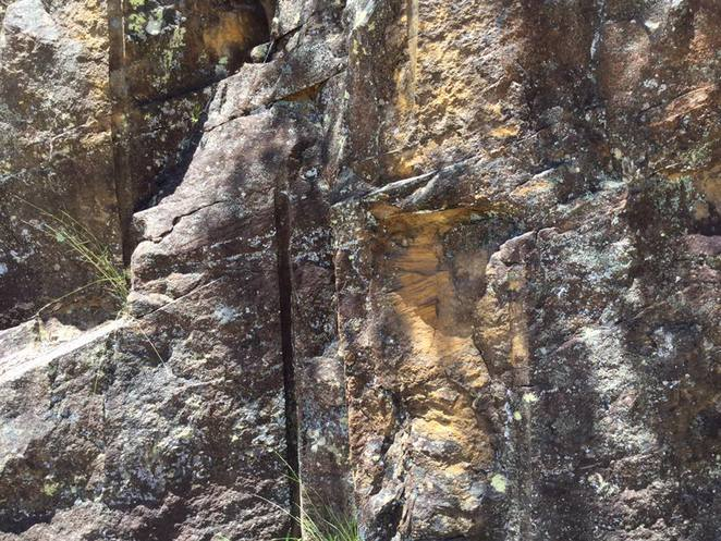 These rocks show the scars of convict days
