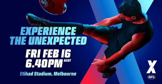 2018 aflx tournament melbourne, etihad stadium, free for kids, australian foodball, aflxx version, new way to play football, football field, express football version, sport, zooper goals, community event, famly fun, fireworks, djs, game commentary, roving performers, kid zone, family zone, giveaways, be part of history, afl launch, merchandise, fox footy, foxtel, afl live app, telstra, telstra tv afl app, tla worldwide, fun things to do, sport fans, footy fans