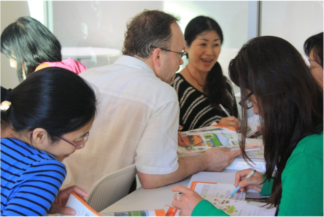 Active conversation practice with peers and teacher; Image from jcourse.org.au.