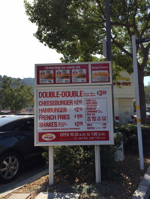 burger, los angeles, in-n-out, menu, review, drive-thru, cheeseburger