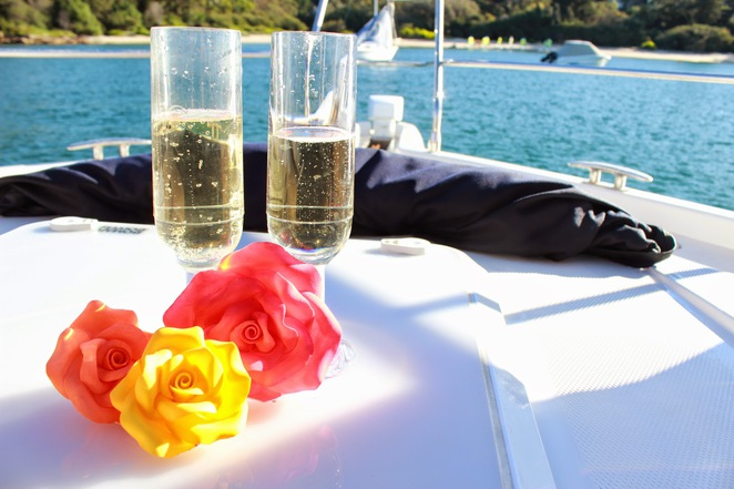 champagne, boat, flowers, icing, sydney, event, sweet art