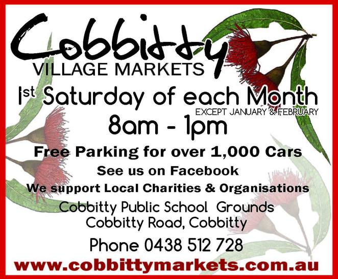 Cobbitty Village Markets, Markets