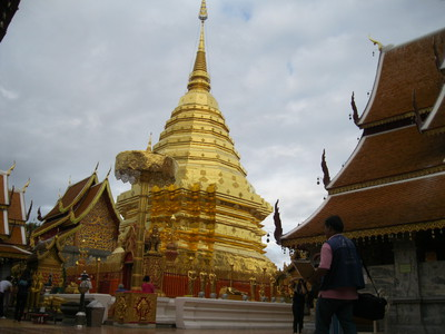 Doi Suthep temple Chedi