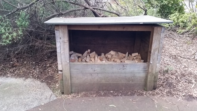 Firewood in usuable size pieces at Silvan Reservoir.