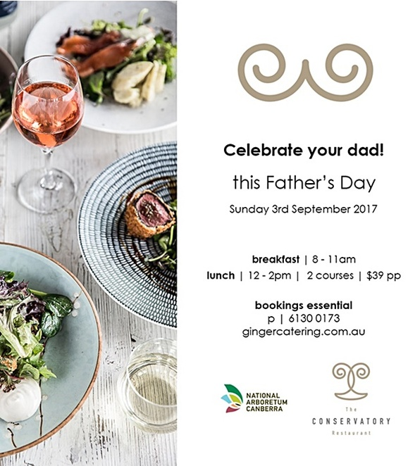 ginger catering, fathers day, 2017, canberra, national arboretum, fathers day lunch, ACT,