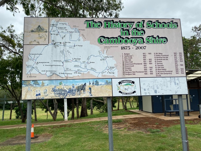 History of schools in the Cambooya Shire