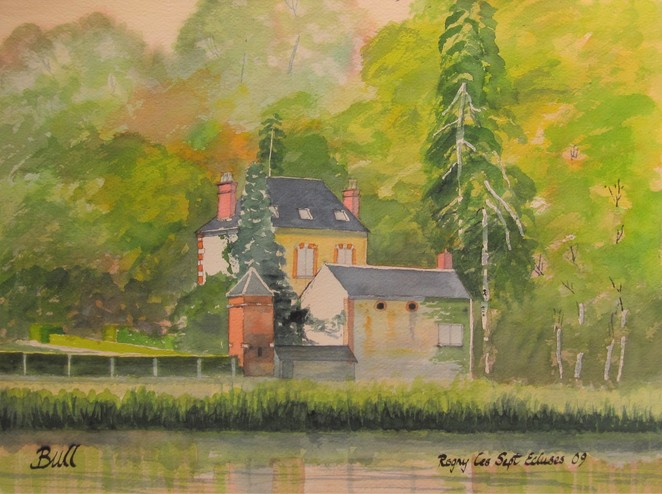 House on the Canal de Briare - artist Geoffrey Bull