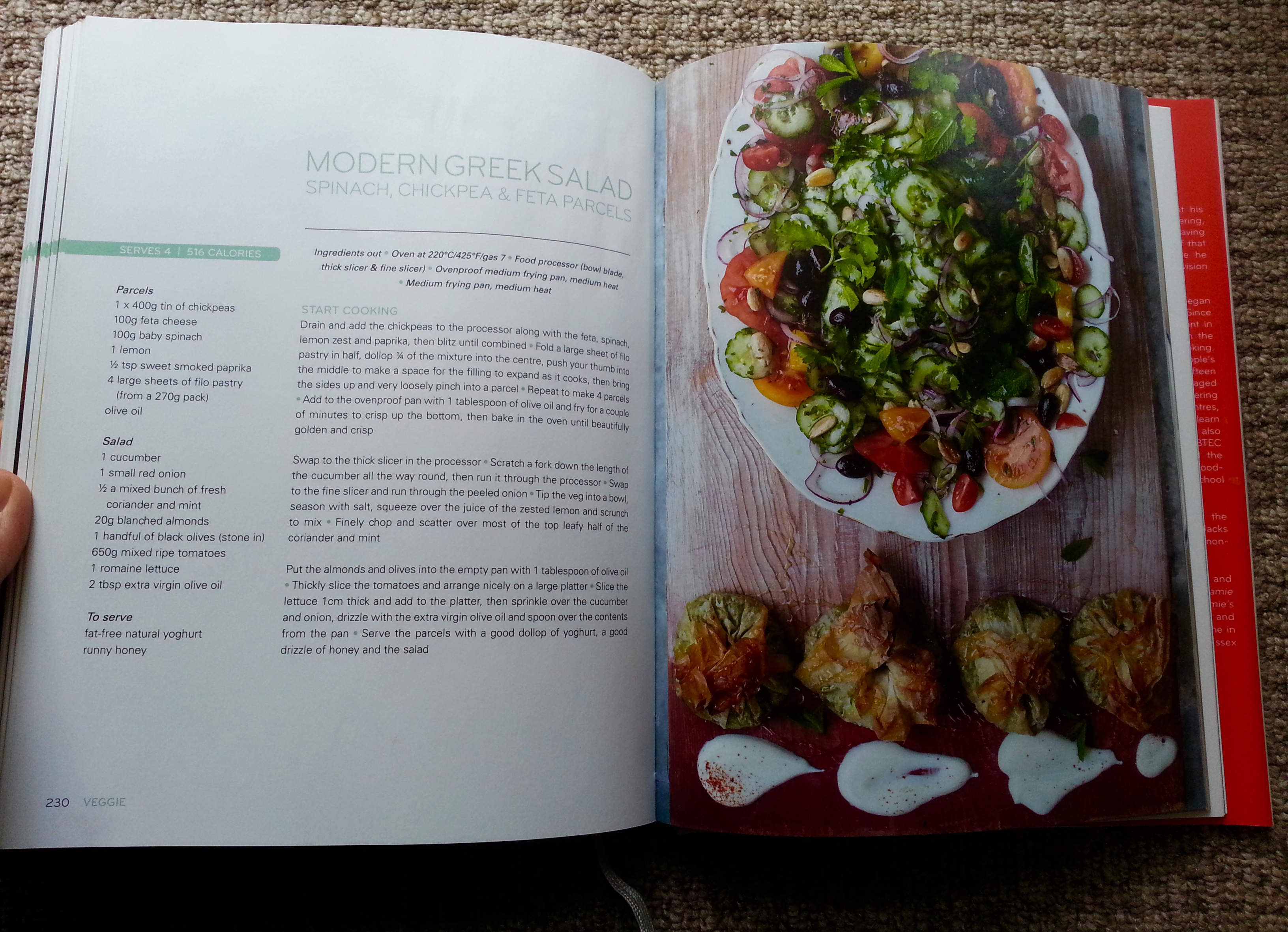 Jamies 15 minute meals book review everywhere jamies 15 minute meals jamie oliver recipe book greek salad forumfinder Image collections