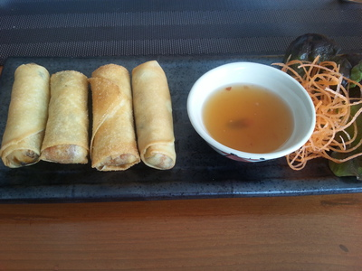 Lai Thai's take on spring rolls, crisp and tasty