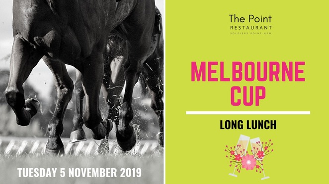 melbourne cup, 2019, the point, restaurant, soldiers point, ports stephens, nelson bay, events, lunch, views,
