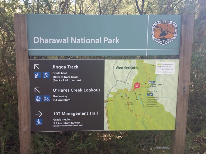 minerva pool walk, dharawal national park, informative signs