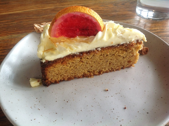 Orange Polenta cake, Acre Eatery