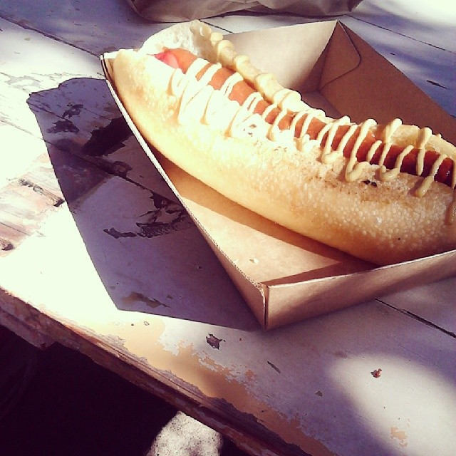 paddock bakery, hot dog, bread,