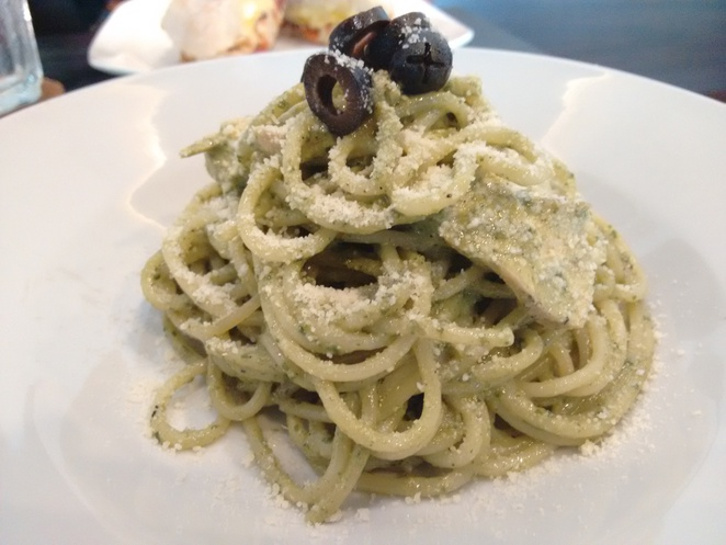 pesto pasta just caffe georgetown penang green hall