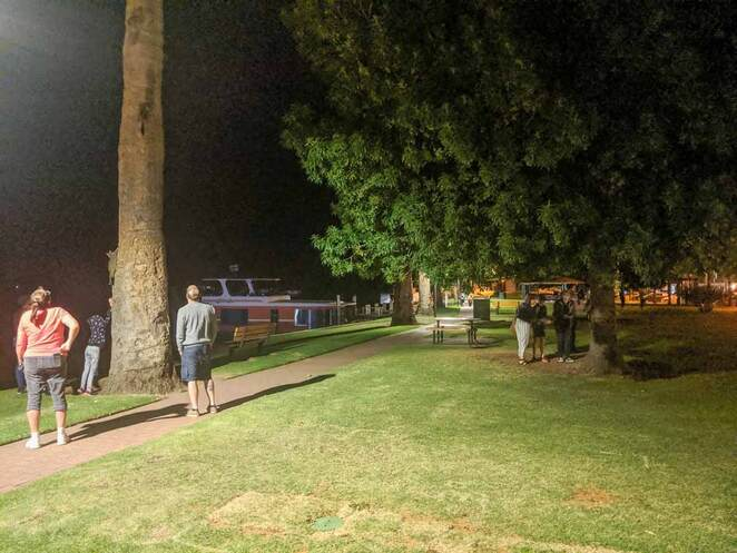 possum parade. renmark, riverfront, possums, kids, fun, night, renmark