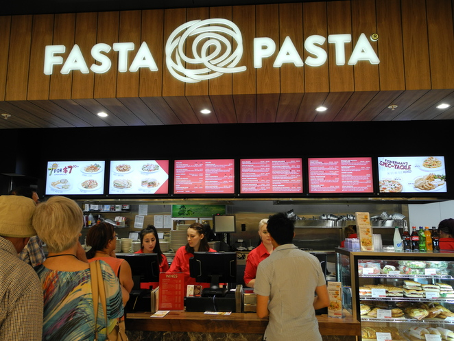 rundle place, food court, 77, adelaide, rundle mall, fasta pasta