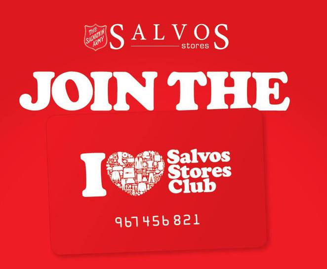 Salvos Stores Club Card