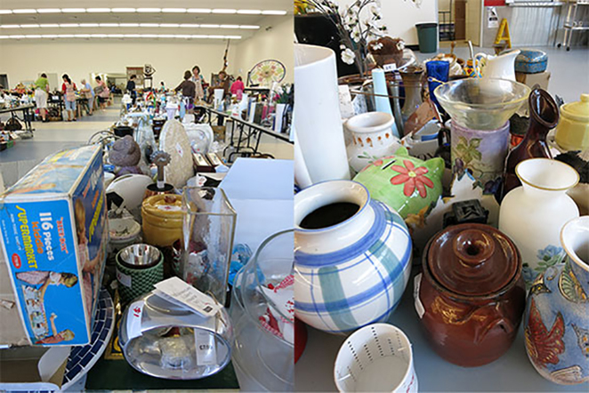 Scroungers Autumn Garage Sale 2018, knick knats and jars.
